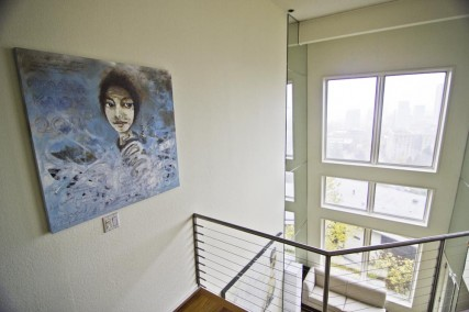 Sam Roloff Oil Painting in Portland Home Amanda Knox