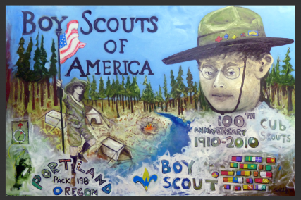 Boy Scouts of America Oil Painting 2010-2012 BSA