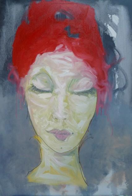 Stephanie Maul sgr3150 Portland artist Sam Roloff Red hair woman