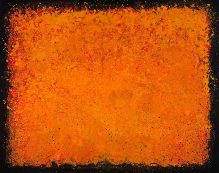"sgr3184 Orange Oil Painting Abstract ""Pursuit of Persimmon"" canvas, 2012, new hot color, orange"