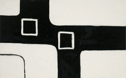 Brussels 3174 oil on Canvas Sam Roloff 30 x 48 inches 2012 Black and white Series