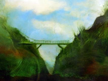 Small Mossy Bridge 3008 Oil on canvas Sam Roloff 2010