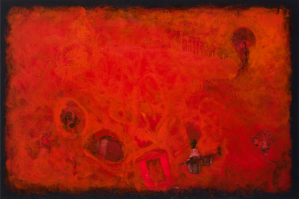 Wanderlust Circus 3161 Mixed Media on Canvas Sam Roloff Red Series 2012 40x60 inch