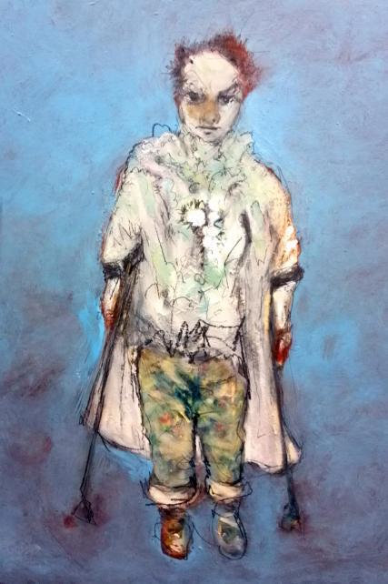 Sam Roloff a Self Portrait 3054 Oil on Board 18x24 inches 2012