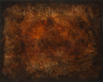 Inspired by Cave Paintings 3254 Oil on Canvas Abstract Brown earth tones Sam Roloff Portland